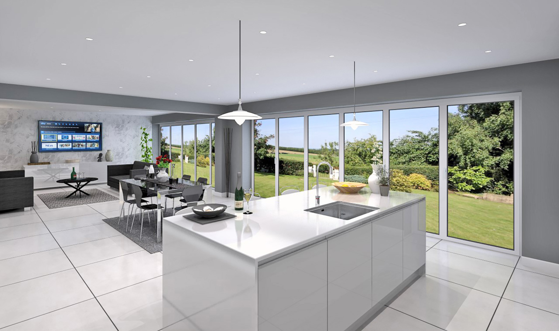 The Haven Kitchen/Dining and Family room