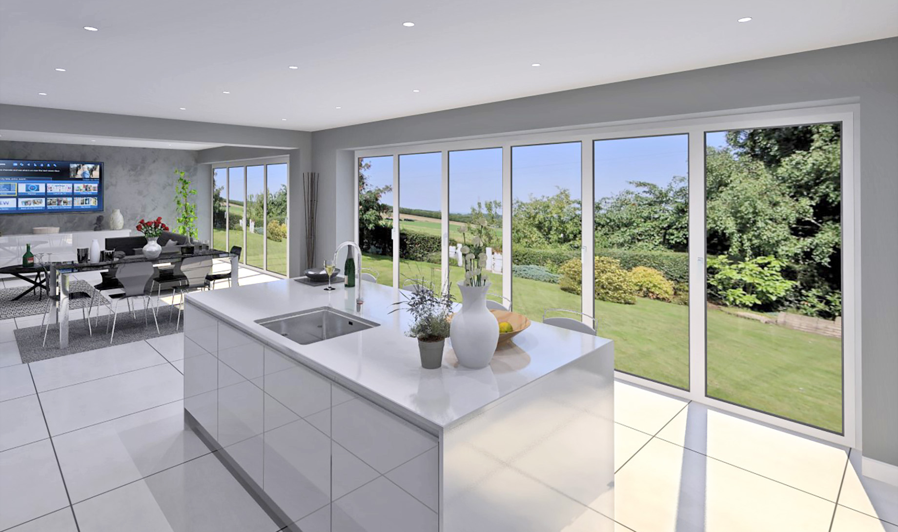 The Middleton Kitchen/Dining and Family room