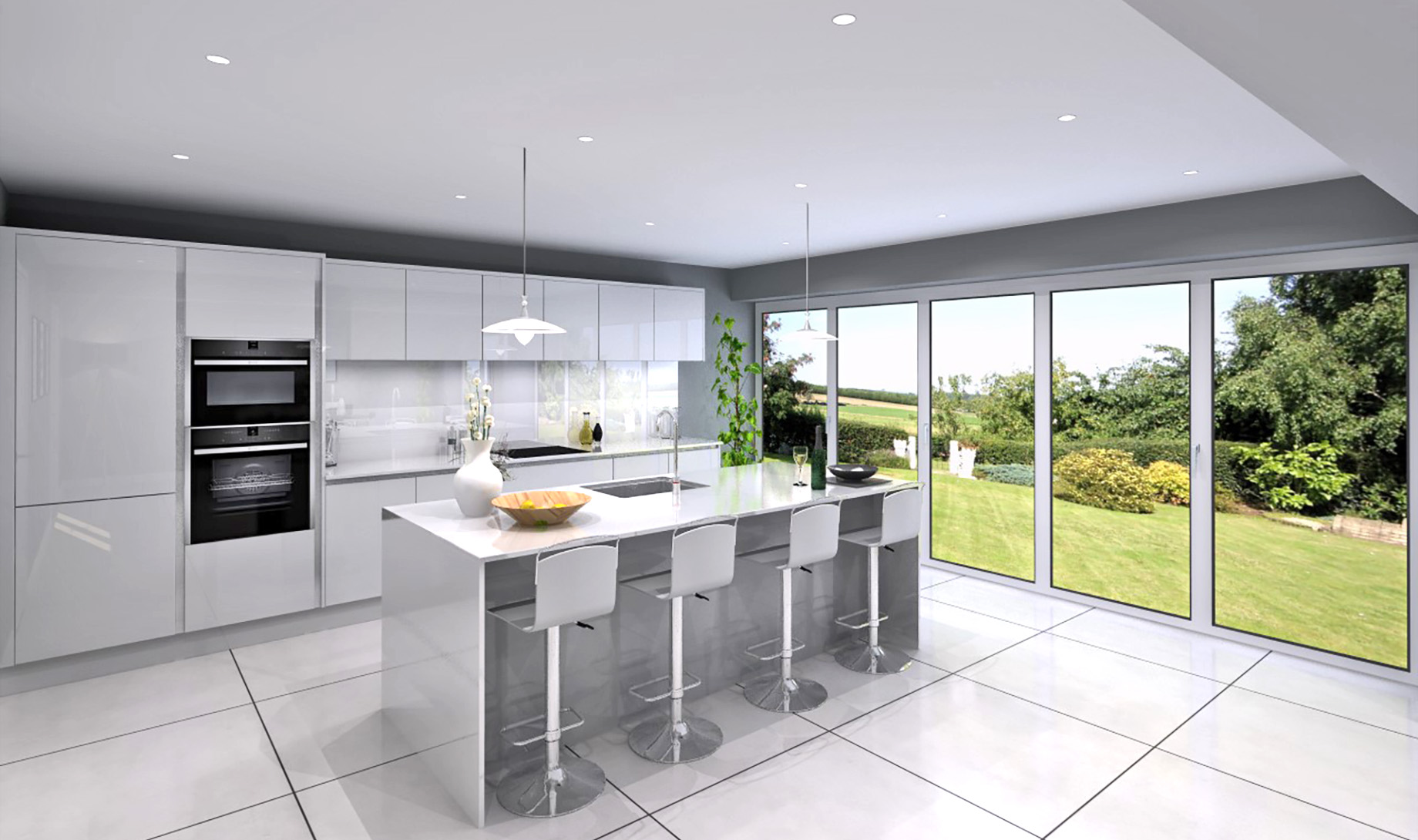 The Wardlow kitchen/dining