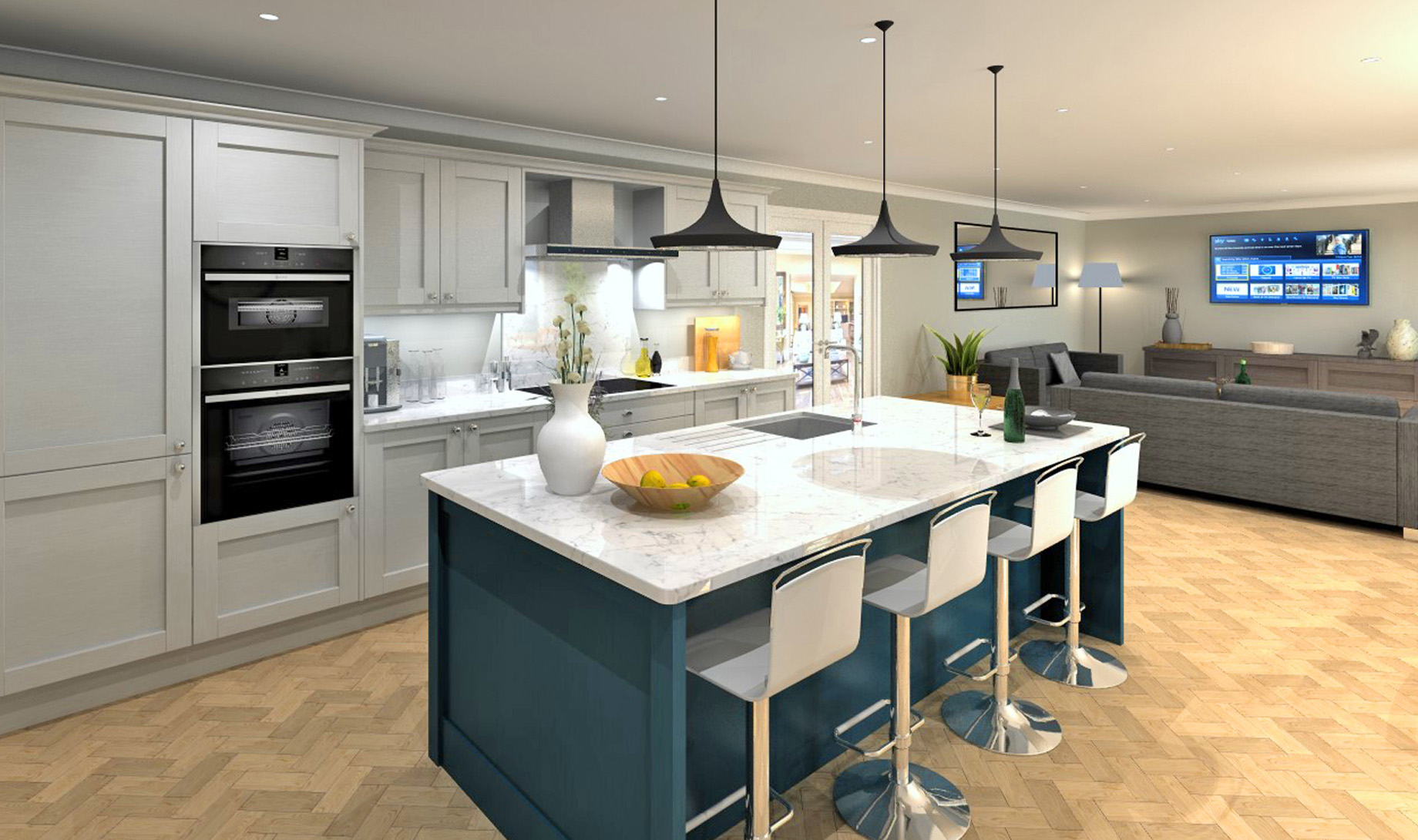 Darwin House Kitchen/Dining and Family Room