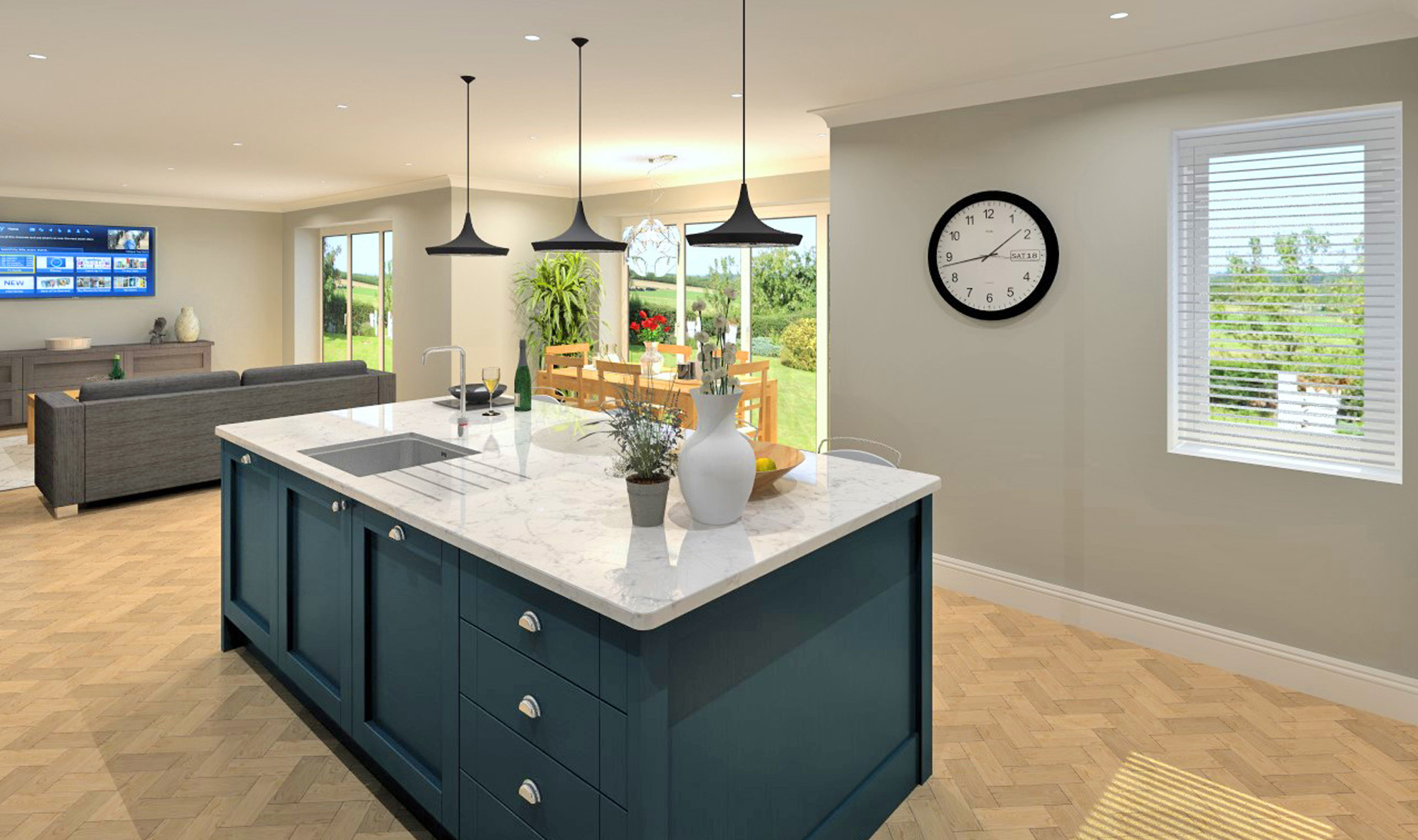 Darwin House Kitchen/Dining/ Family Room